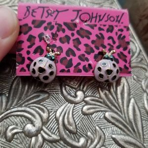 Pink Lady Bug Earrings